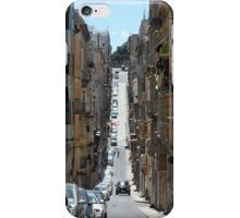 Narrow Street with Houses and Balconies in Malta iPhone Case/Skin