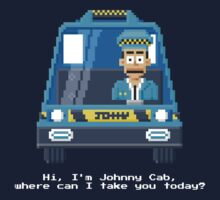 Johnny Cab - Total Recall Pixel Art by Gwendal