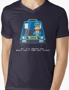 Johnny Cab - Total Recall Pixel Art Mens V-Neck T-Shirt