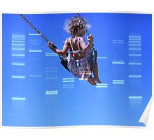 DNA Art Portrait - DNA Clouds with custom photograph Poster
