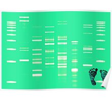 DNA Art Portrait - SeaDNA with inked baby footprints Poster