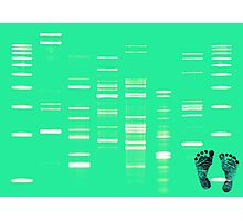 DNA Art Portrait - SeaDNA with inked baby footprints Photographic Print
