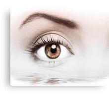 Details of beauty woman eye Canvas Print