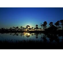 Sunrise at the  wildlife management area Photographic Print
