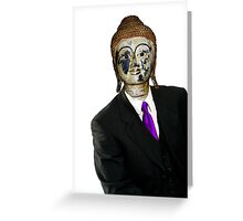 Man Buddha Greeting Card