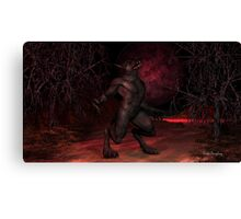 Red Moon Arising Canvas Print