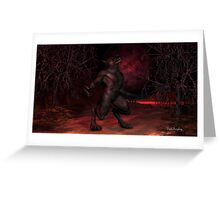 Red Moon Arising Greeting Card