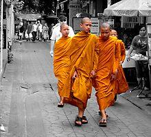 Buddhist monks by Simon Hackney