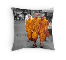 Buddhist monks Throw Pillow