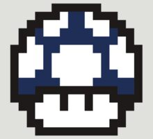 8-Bit Mario Mushroom (Blue) by L- M-K