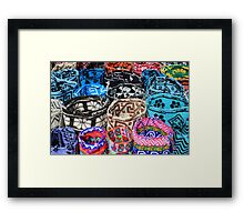 Bright Knit Bags Framed Print