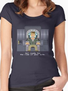 Doug Quaid - Total Recall Pixel Art Women's Fitted Scoop T-Shirt