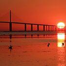 Sunshine Skyway sunrise by kathy s gillentine