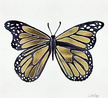 Gold Butterfly by Cat Coquillette