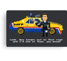 Max Rockatansky - Mad Max Pixel Art Canvas Print