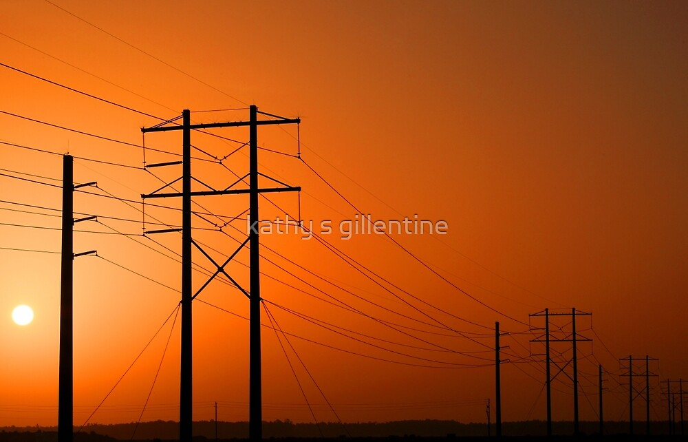 Electric sunrise by kathy s gillentine