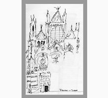 Italy- An early Pen and Ink of the Cathedral Facade in Siena Unisex T-Shirt