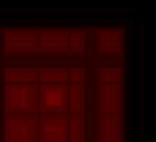 Deep Cherry-Red Plaid Sticker