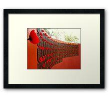 Red Poppy Wall Framed Print