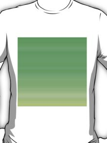 Green Leaves Stripes T-Shirt