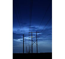 electrical blues Photographic Print