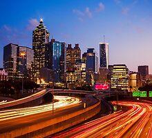 Atlanta Skyline at Night by Giorgio Fochesato