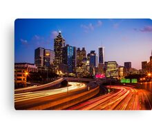 Atlanta Skyline at Night Canvas Print