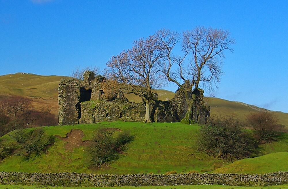 Pendragon Castle Ruins by Trevor Kersley
