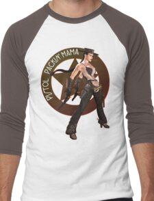 Pistol Packin' Mama (spicy) Men's Baseball ¾ T-Shirt