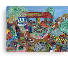 """Farmers Market"" Canvas Print"