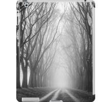 Foggy Road in the forest iPad Case/Skin