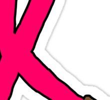 Kick Cancer's Butt!  Sticker
