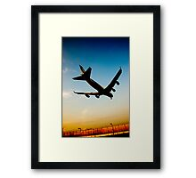 the plane Framed Print