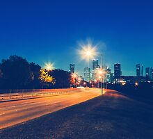 Driving in Houston at Night by giof