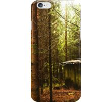 The world of evergreens and a house in the woods.... iPhone Case/Skin