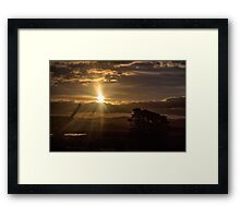 A Farmer's Sunset Framed Print