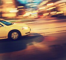 Taxi driving in the city by giof