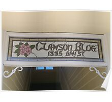 Clawson Blog in Florence, Oregon Poster