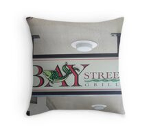 Bay Street Grille Florence, Oregon Throw Pillow