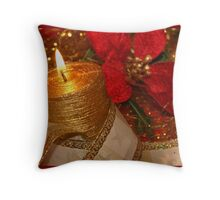 Christmas candle light 03 Throw Pillow
