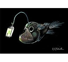Angler with a Lamp Photographic Print