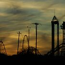 High Ride At Sunset by Sharon Elliott-Thomas
