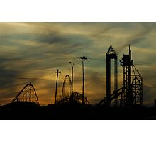 High Ride At Sunset Photographic Print