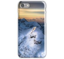 Mountain landscape in Winter iPhone Case/Skin