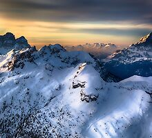 Mountain landscape in Winter by giof