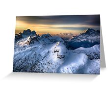 Mountain landscape in Winter Greeting Card