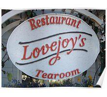 Lovejoys Tearoom Florence, Oregon Poster