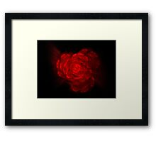 Fractal Red Framed Print