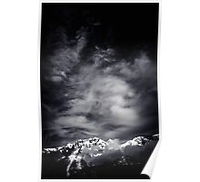 Mountains in Black and white Poster