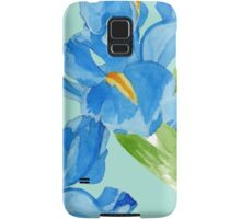 Watercolor iris spring flowers  Samsung Galaxy Case/Skin